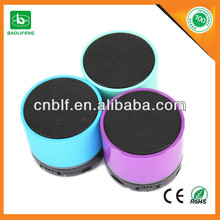 New promotional TFcard bluetooth wireless speaker mini speakers round shape