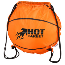 Cheap sport basketball drawstring bag with design printed