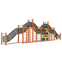 Children wooden jungle gym climbing frames outdoor playground equipment
