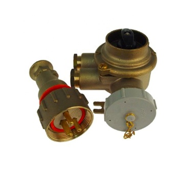 impa792888marine brass watertight plug&receptacle with switch industry power adaptor 3 pin electrical plug and socket connectors