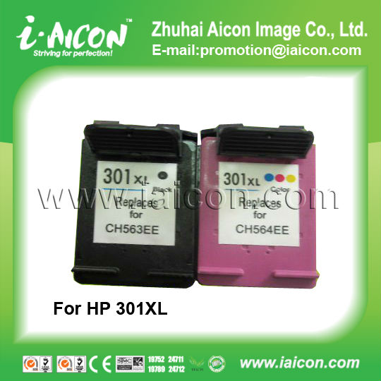 Remanufactured inkjet cartridge for HP 301XL