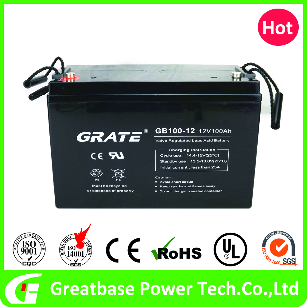greatbasepower 12v 100ah SLA Emergency Lighting System battery for Cable Television
