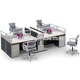 4 Seat Modern Office Cubicle Workstations Factory Wholesale (FOH-JT4C)