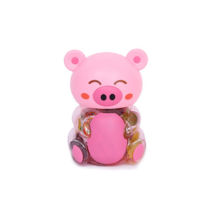 Jelly & Pudding container Promotional candy toys jelly in pig jar