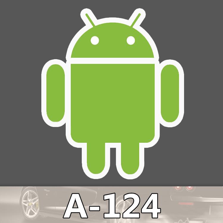 A 124 Android Fashion Cool DIY Stickers For Laptop Luggage Fridge Skateboard Car Graffiti Cartoon Stickers
