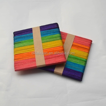 High quality wooden craft Sticks multicolored colorful wooden Ice cream sticks