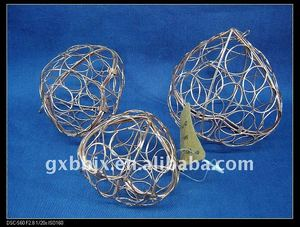 Peach metal wire festival handicraft decoration wall art