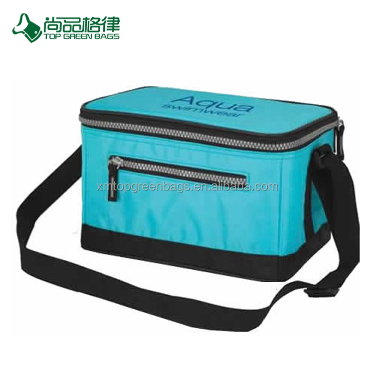 Promotion polyester Insulated lunch bag cool bag water bottle covers