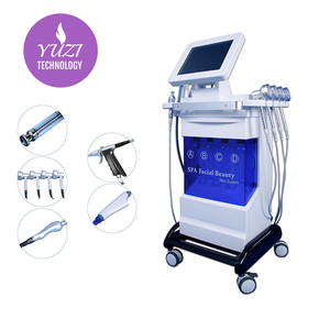 Multi-functional Oxygen Facial Machine 9 In 1 Hydra Dermabrasion Led H2 O2 Equipment