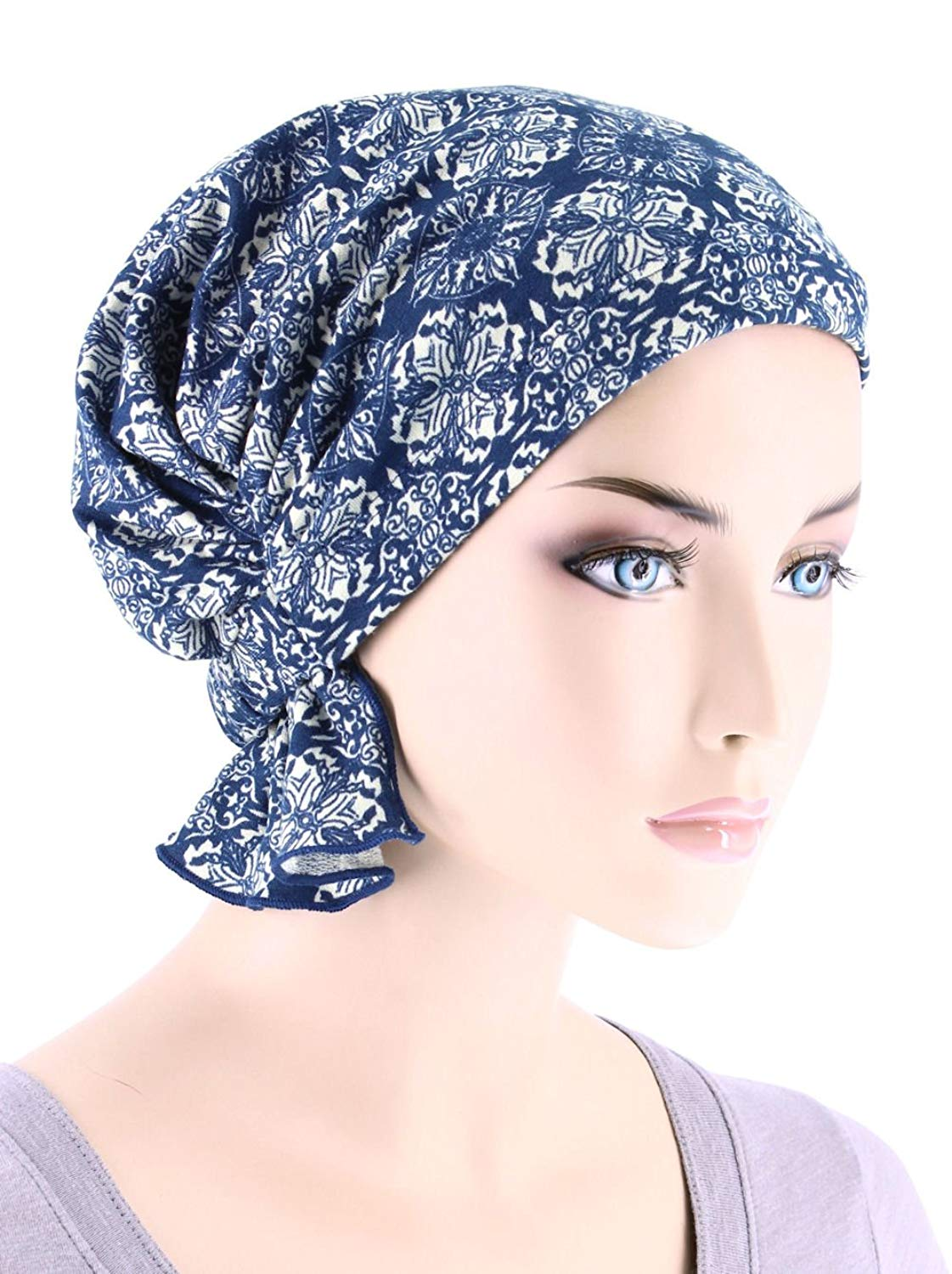b6cc89ea4eb Get Quotations · Turban Plus Abbey Cap In Poly Knit Chemo Caps Cancer Hats  For Women