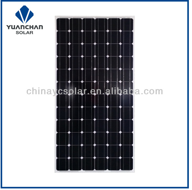 300W mono solar panel with 72 cells high efficiency and quality from Huaian Yuanchan Solar