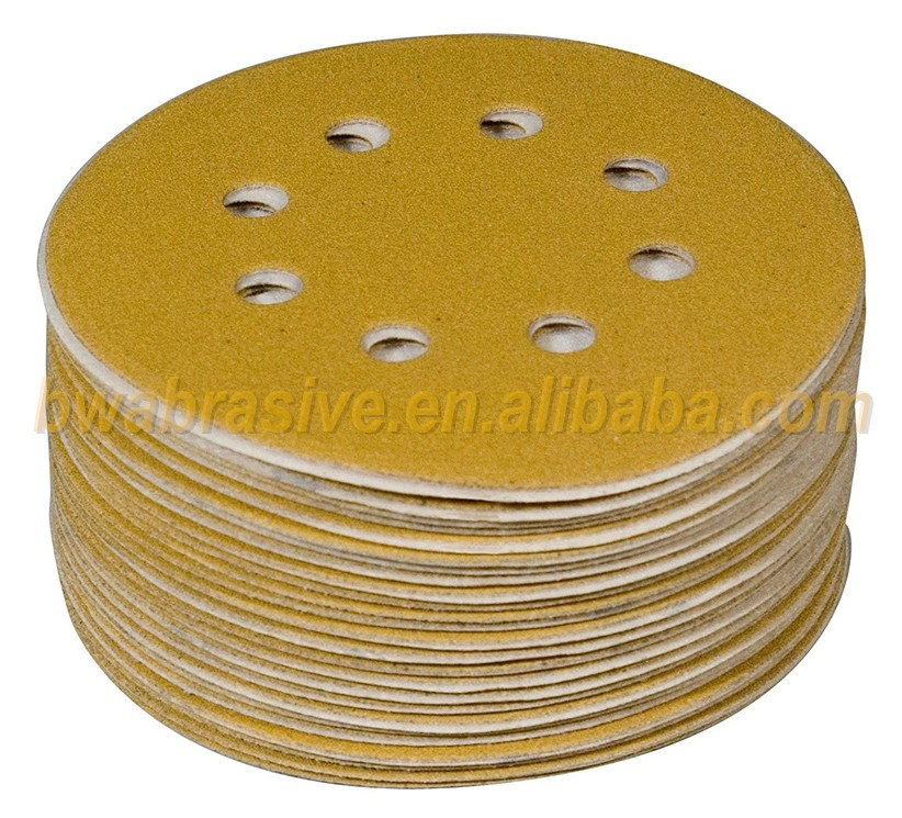 5-Inch 8-Hole Dustless hook and loop sanding disc sander paper