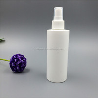 Big plastic spray bottle 250ml PE cosmetic and perfume bottle with pump cap