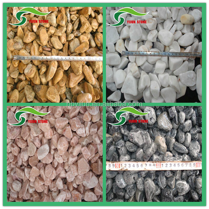 China Factory Price White Garden Landscaping Pebble Stone Tumbled ...