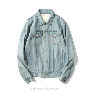 Mens light blue washed jeans jackets streetwear motocycle denim jackets