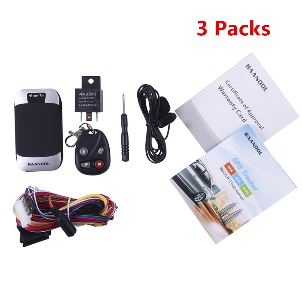 BAANOOL 3PCS GPS Tracker Car GPS Tracker Remote Control Mini Vehicle Tracking Device Real Time Tracker with Vehicle Tracking System