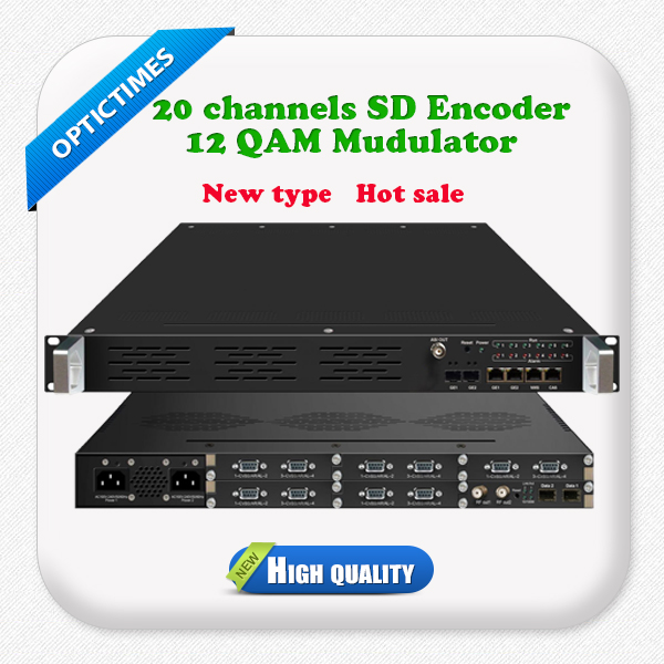 20 channels mpeg-2 video and 20 pairs unbalanced stereo audio encoding encoder modulator