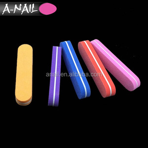 40 PCS Easy Carry Mini Round Washable Nail Art Polishing File 4 Sided Professional 100 180 Sponge Nail Buffer # HNF-30