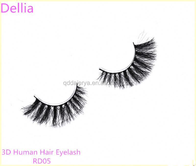 Dellia Private Packages Good Shape Human Hair Eyelash Extension