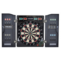 2017 hot 27 games 1-16 players electronic electronic dart board with Cabinet