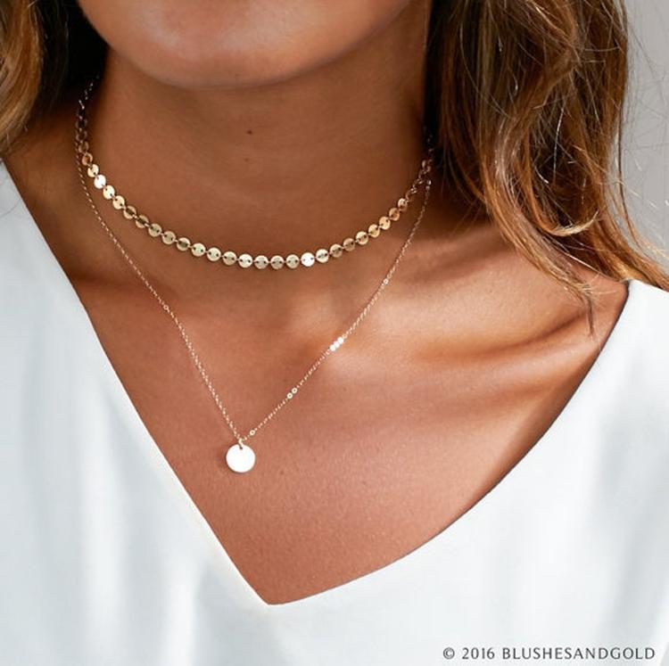 collier ras de cou pendentif