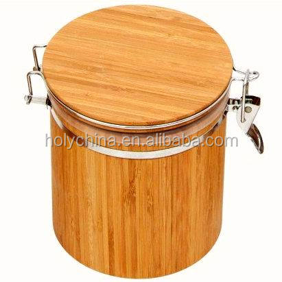 hot sale high quality bamboo tea canister