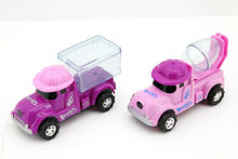 hot selling pull back ABS car promotional candy toy with CE