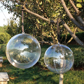 high quality round shape hollow clear transparent plastic christmas balls large size ball 40cm - Plastic Christmas Balls