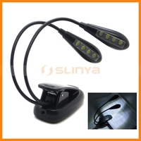 Factory OEM Welcomed 2 Brightness Settings 8 LED Rechargeable Book Light