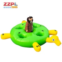 High quality floating inflatable water games 0.9mm PVC good quality inflatable water turtle