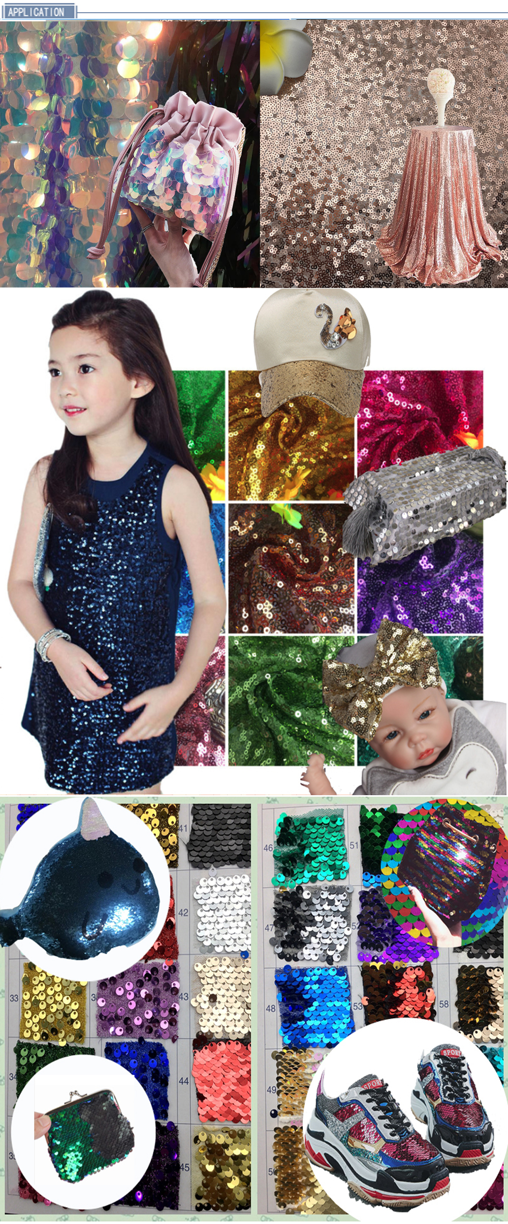 CRF0750 9MM CUSTOMIZE silver sequin lace fabric for toy
