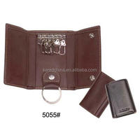 cheap promotional key holder cool style leather case for car key as gifts