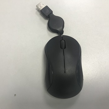 For promotion for gift easy carring laptop use tablet use retractable cable optical mini mouse