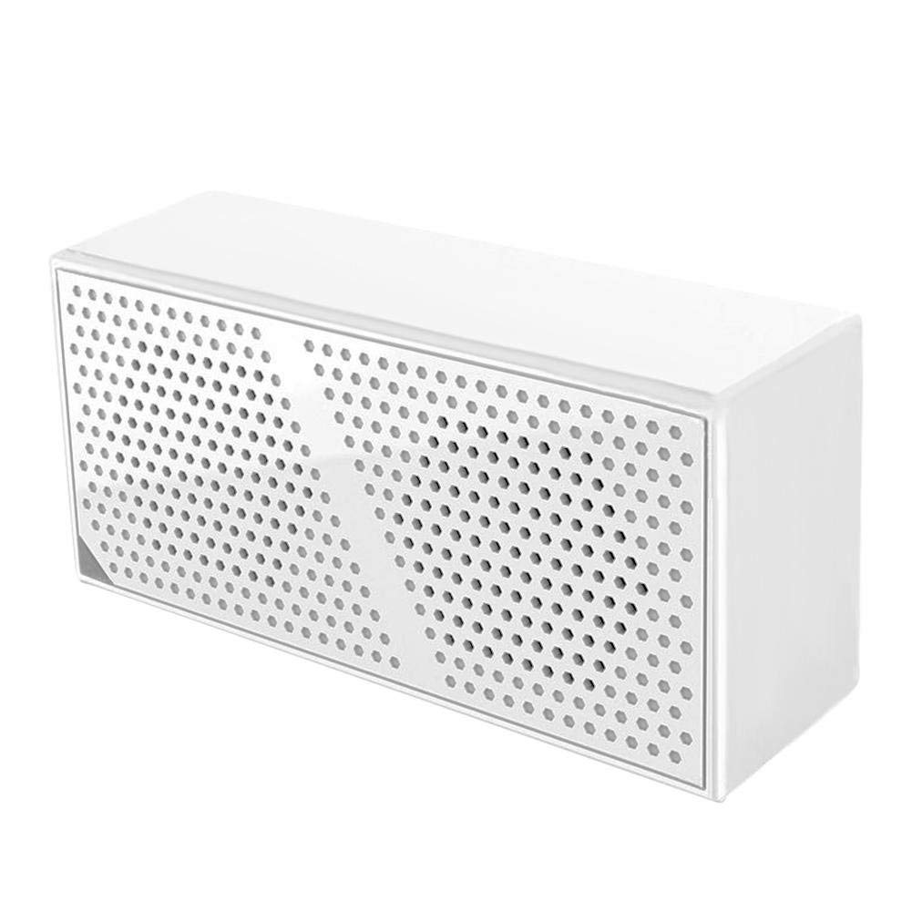 Childplaymate Mini Portable Wireless Bluetooth Bass Speaker Dual-Driver Subwoofer(White)