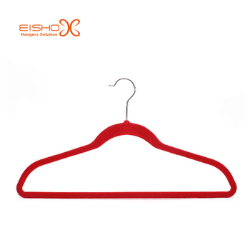 Eisho Premium Red Color Velvet Clothes Hanger