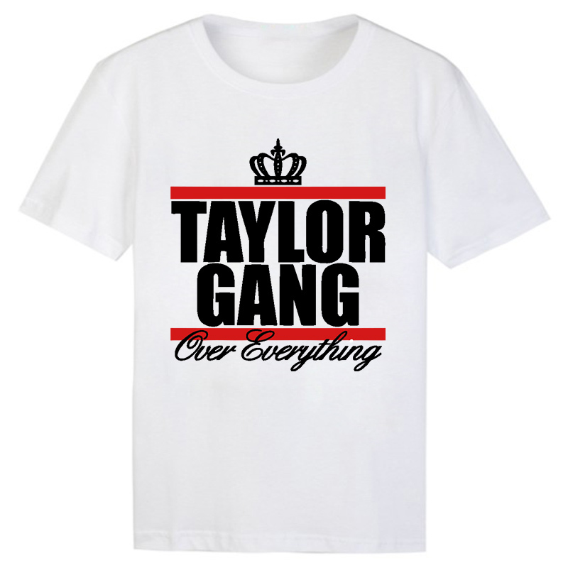 70077448927dd Get Quotations · Free Shipping Taylor Gang Letter T-shirt Mens Taylor Gang  Wiz Khalifa Hip Hop T