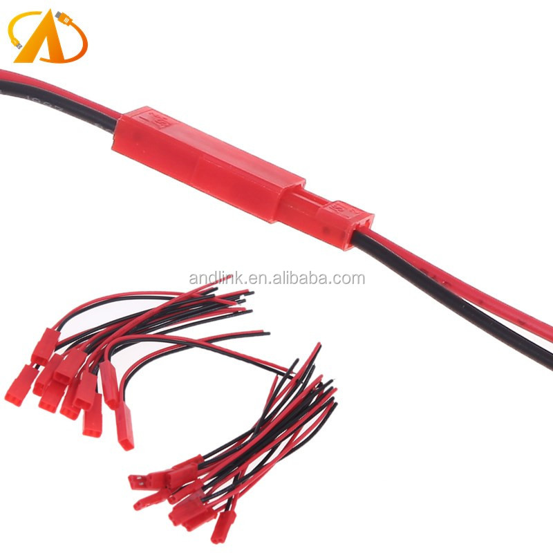JST 2 Pin Connector Plug Lead Wire for Rc Li-Po Battery Discharge Esc Bec Board Line Male & Female Wire 22AWG