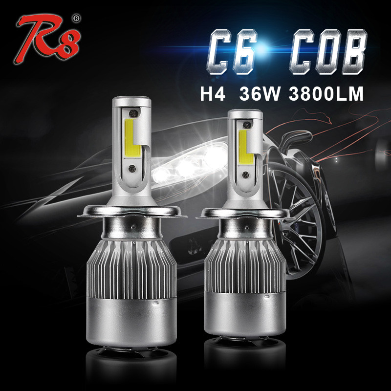 R8 C6 H4 Led Headlight Bulb 12v 55w 35w 6000k G8 Base Led