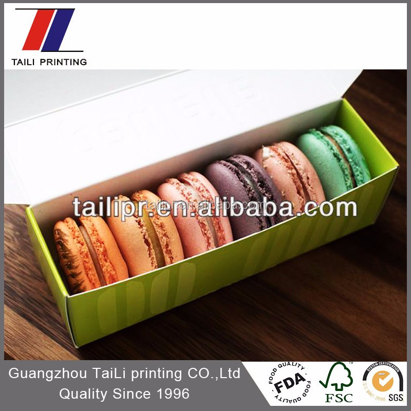 Wholesale custom printed 6 units pack macaron box