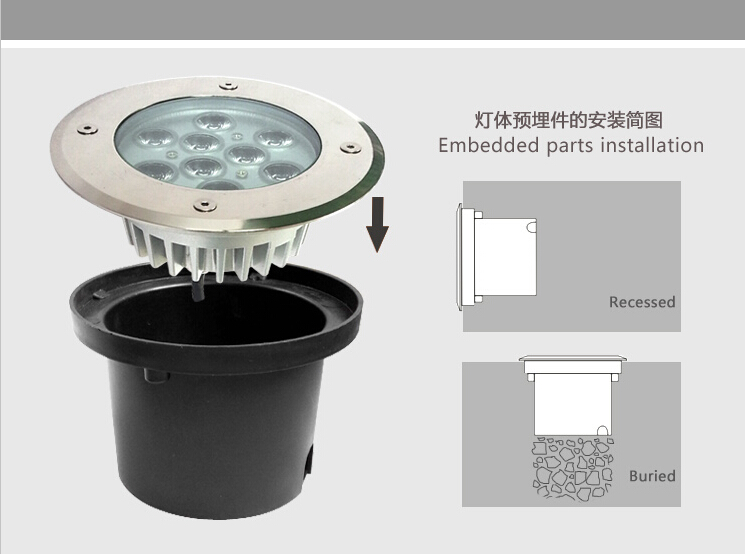 led tree light outdoor uplight 9w high power led