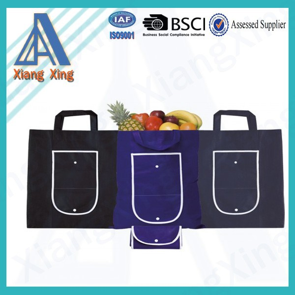Promotional 80gsm Non-woven Polypropylene Tote Shopper Foldable Shopping Bag Fold up Bag