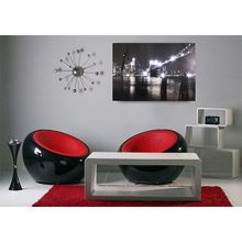 Led canvas schilderij met wandklok <span class=keywords><strong>brooklyn</strong></span> bridge new york city night pictures digitale canvas prints light up home decoratieve