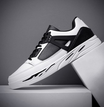 zm80684a 2019 latest fashionable black and white men sneakers sports casual shoes for spring and summer running sneakers