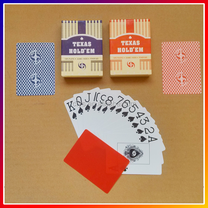 Super waterproof Plastic Poker , Custom printed poker 100% plastic playing cards