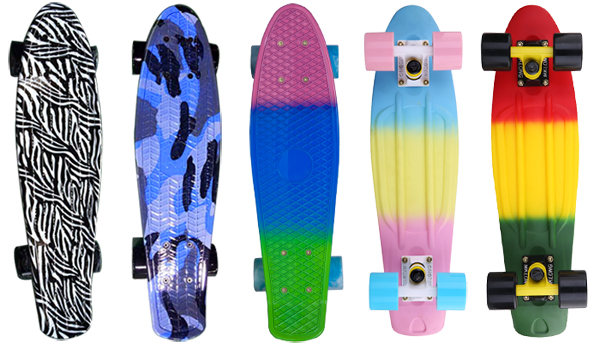 27 Inch Wood Skateboard 7 Ply Maple Board Fish Style Wholesale ...