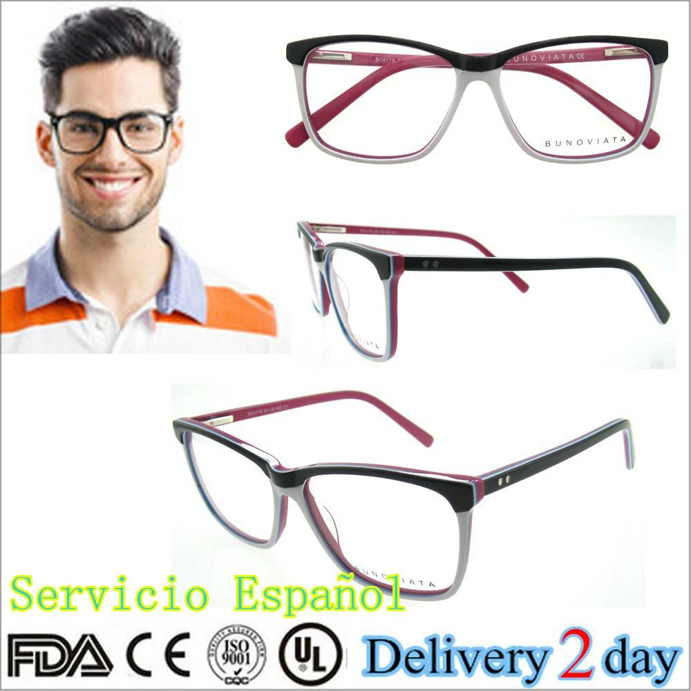Marco/monturas de acetato de gafas de moda de diseño italiano de ...