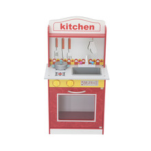 Pretend Play Dollhouse Wooden Kitchen Playset