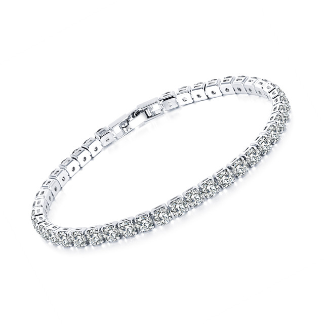 Stainless Steel  Trending Products Diamond Tennis Bracelet for Women