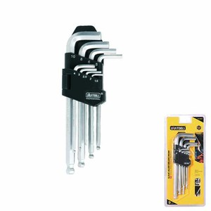 Stock Hand Tool 9pcs Medium Type Ball Point Hex Key Wrench