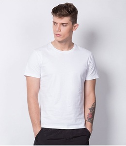 wholesale Man cheap blank tshirt 60%cotton 40%polyester white colors sport men t shirt